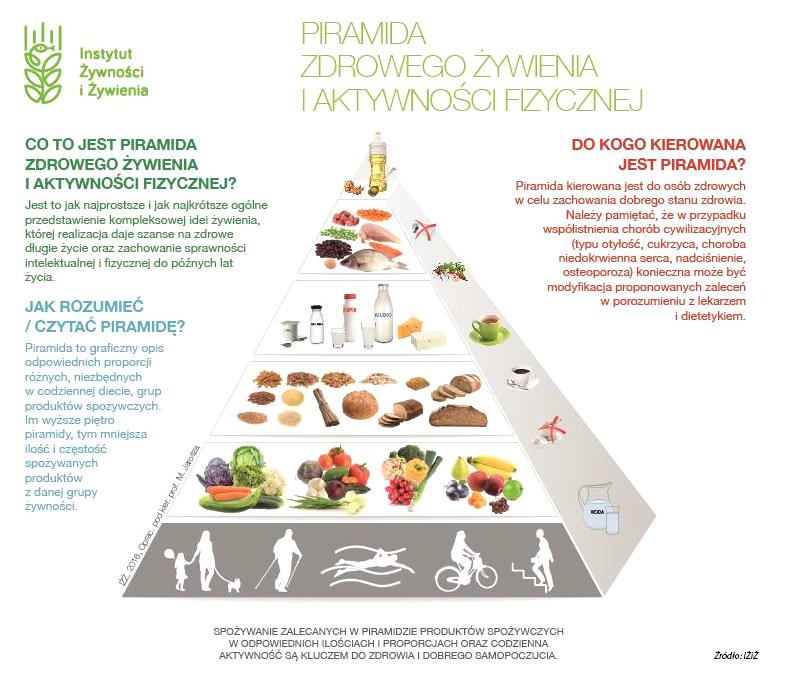 Piramida żywienia dla dorosłych