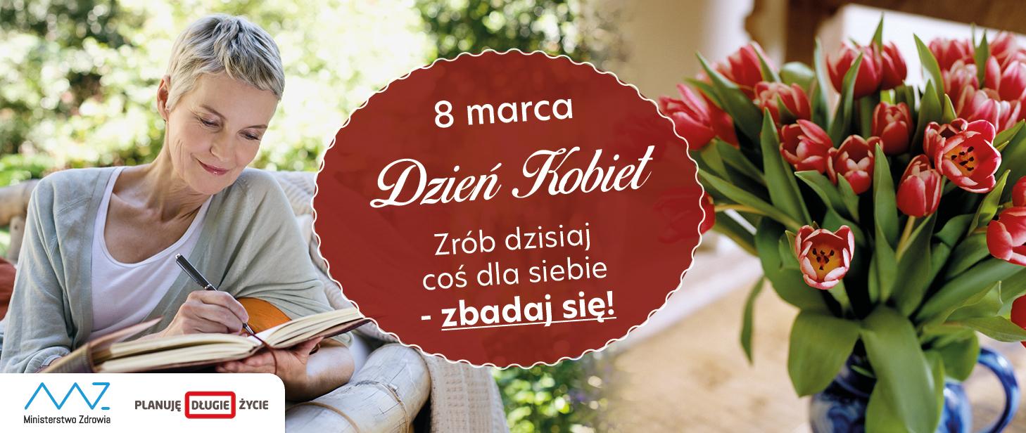 Kobieta, kwiat, 8 marca Dzień Kobiet.